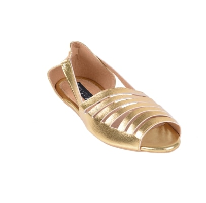 Berry Purple Golden Women Sandals
