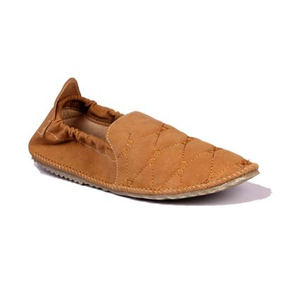 Leather Parl Tan Loafers