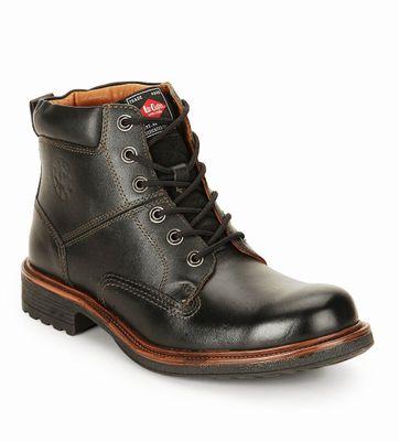 Lee Cooper Black High Ankle Length Boot