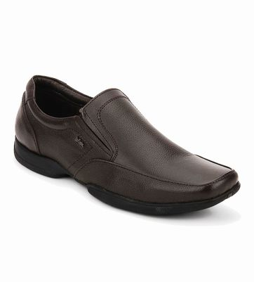 Lee Cooper Brown Leather Formal Shoes
