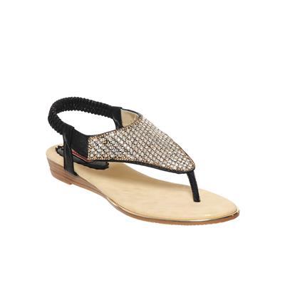 Flat n Heels Black Women Sandals