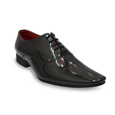 Lippy Black Formal Shoes (Size-41)
