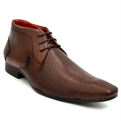 Lippy Brown Formal Derby Shoes (Size-6)