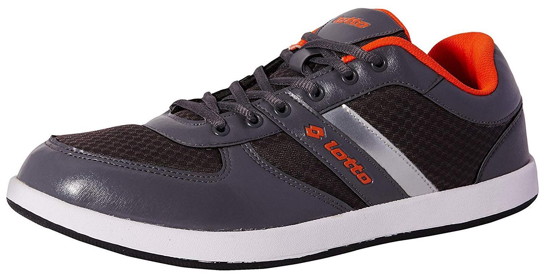 Lotto Men's Milan Grey and Orange Running Shoes -