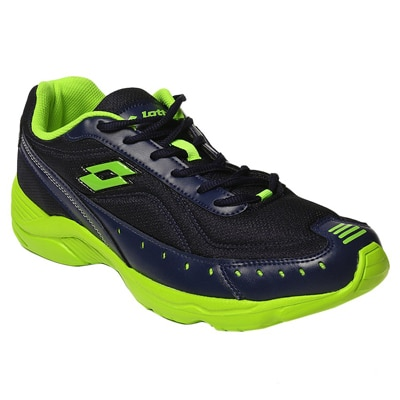 Lotto Rapid Mens Black/Green Sports Shoes
