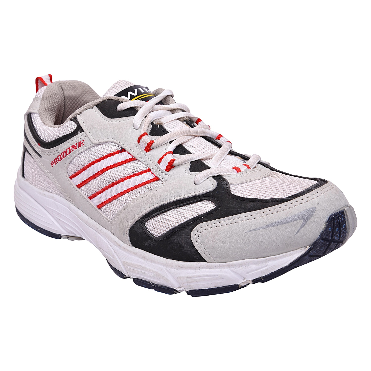 Mens sports shoe TPH-P-49 White red colours 1