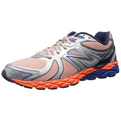 New Balance Men M870BO3 Silver and Orange Running Shoes