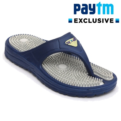 Nexa Accupressure Men's Grey Slippers