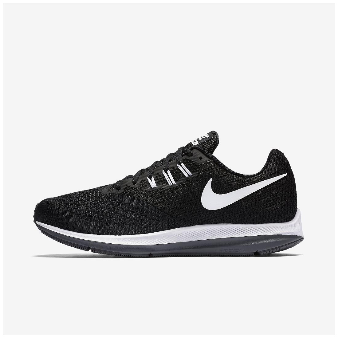 71cb1a62fb7 Nike Men s Zoom Winflo 4 Black Running Shoes