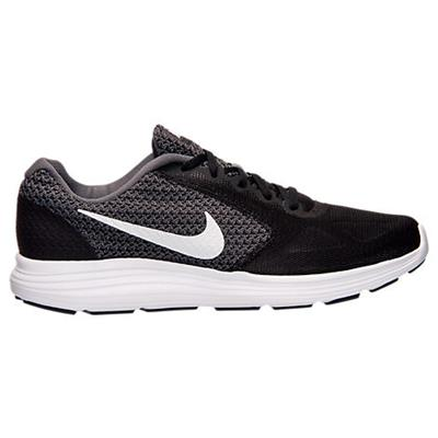 Nike Revolution 3 Men Black and White Running Shoes