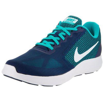 Nike Men's Blue Revolution 3 Running Shoes