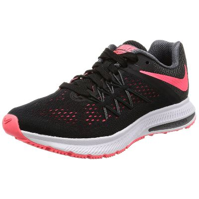Nike Women's Zoom Winflo 3 Black Running Shoes