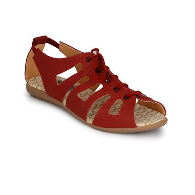 Rimezs Maroon Women Sandals