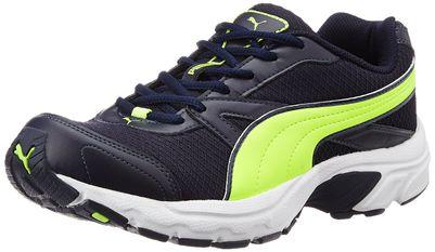 Puma Men's Brilliance Idp Peacoat and Safety Yellow Running Shoes - 7 UK/India (40.5 EU)