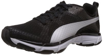Puma Men's Mobium Ride Black-Black-Silver Metallic Mesh Running Shoes - 6 UK/India (39 EU)