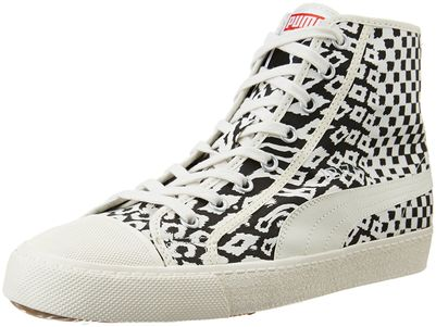 Puma Men's Puma Ibiza Mid Animal Unisex Egret White Sneakers - 9.5 UK/India (44 EU)