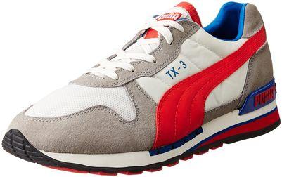 Puma Unisex Tx-3 Snow White, Neutral Grey and Flame Sneakers - 9 UK/India (43 EU)