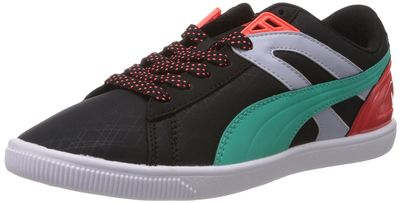 Puma Women's Future Glyde Lite Lo Wn's Black, Fluo Teal 808C and Fluo Peac Sneakers - 3 UK/India (35.5 EU)