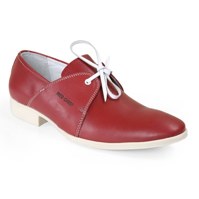 Red Chief Men RC1331A Red Formal Shoes