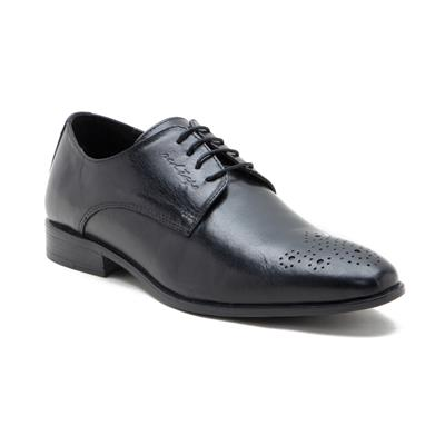 Red Tape Black Leather Formal Shoes