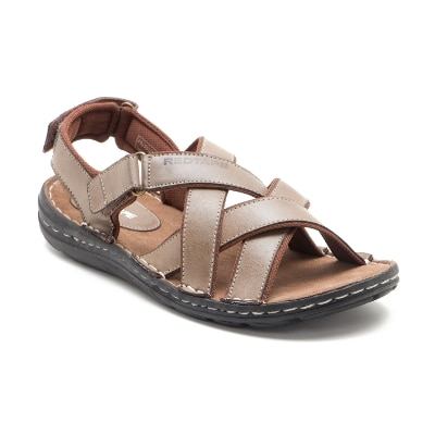 Red Tape Brown Leather Sandal