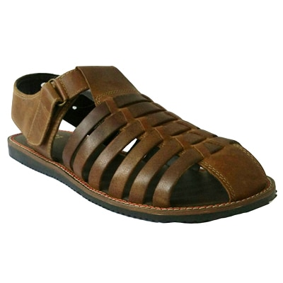 Red Tape Mens Brown Leather Sandal