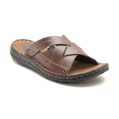 Red Tape Brown Leather Slipper