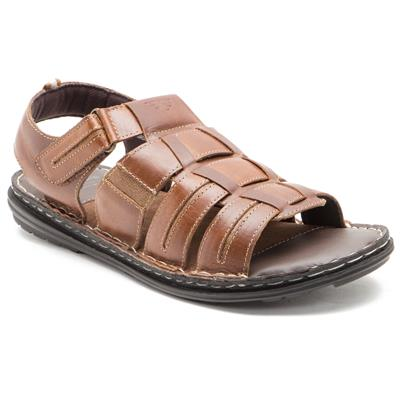 Red Tape Mens Brown Casual Sandals