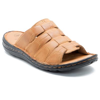 Red Tape Mens Tan Casual Slippers