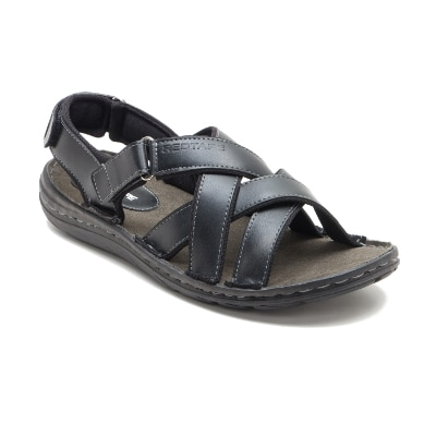 Red Tape Men's Black Casual Sandal