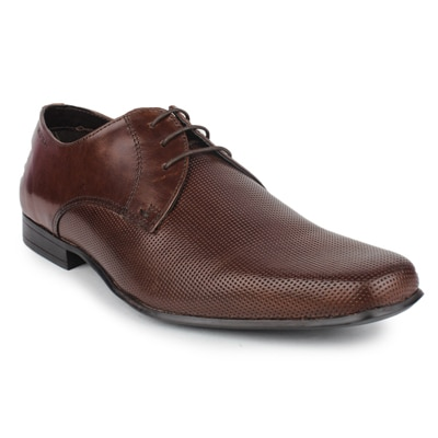 Red Tape Mens Brown Leather Formal Shoes