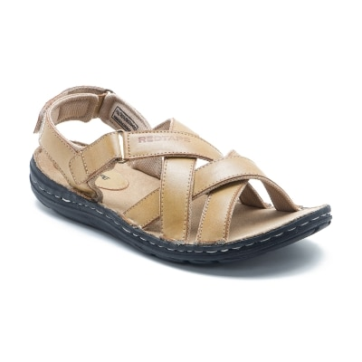 Red Tape Tan Leather Sandal