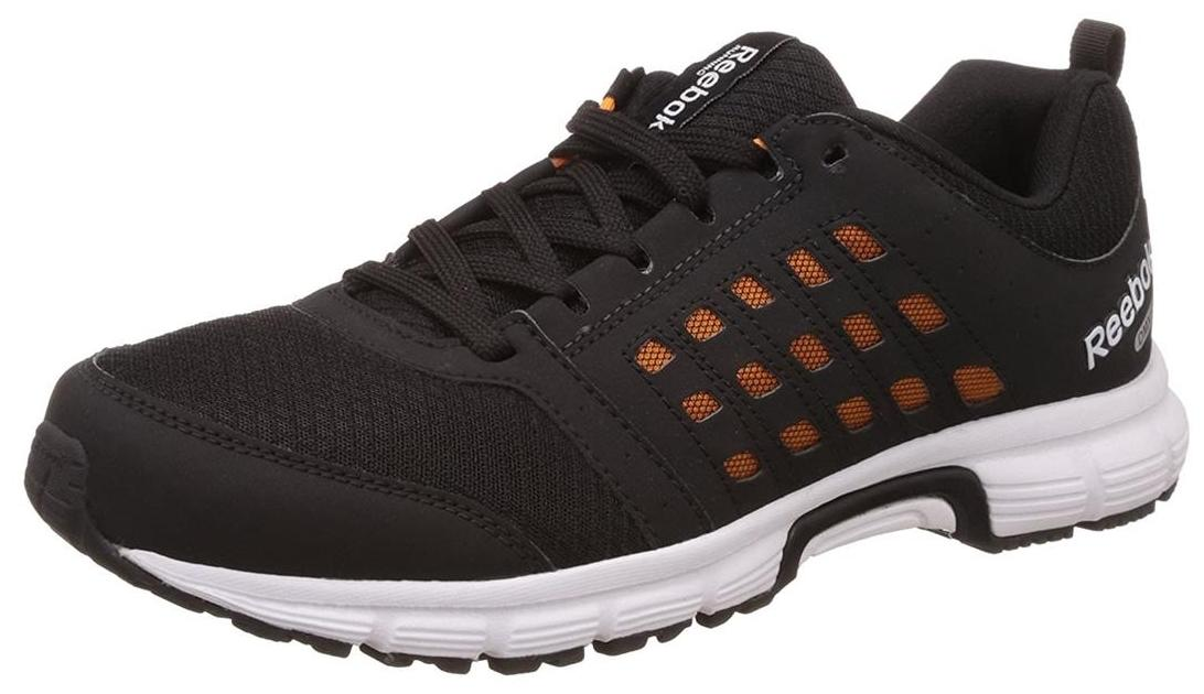 reebok charged ride black running shoes for men online in