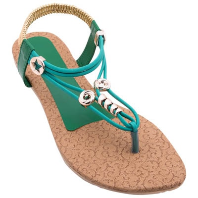 Royal Collection Green Women Sandals