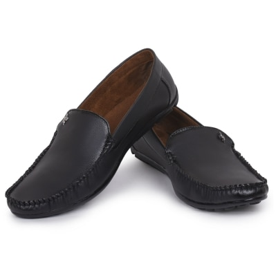 ROZO Black Loafer For Men