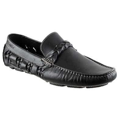 Ruosh Men Black Loafers