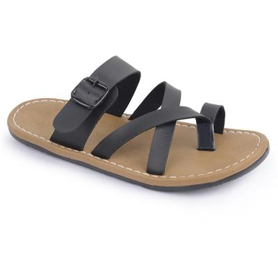 Semana Black Flat Slip on