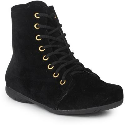 Shenaya Women Black Boots