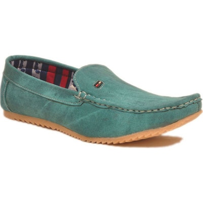 Shoe Alive Green Loafers For Men