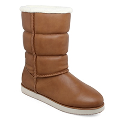 Shuz Touch Womens Brown Boots