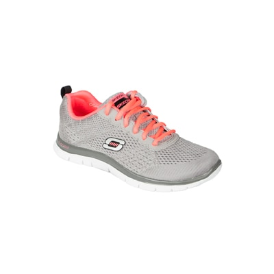 Skechers Women's Grey Mesh Sports Shoes