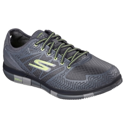 Skechers Men Go Flex Grey And Silver Walking Shoes