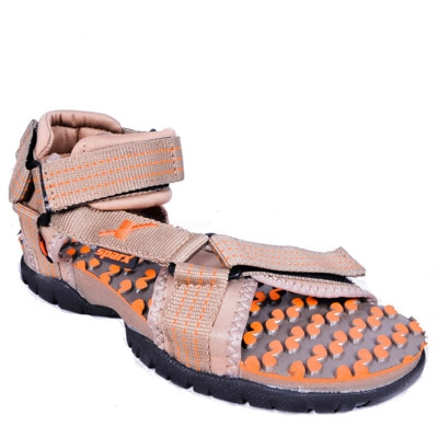 Sparx Beige And Orange Sandals