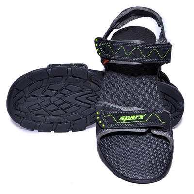 Sparx Black And Green Sandals
