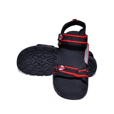 Sparx Black And Red Sandals