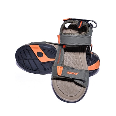 Sparx Grey And Orange Sandals