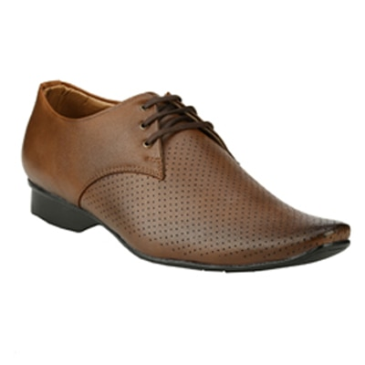 Step Mark Brown Formal Shoes (Size-7)