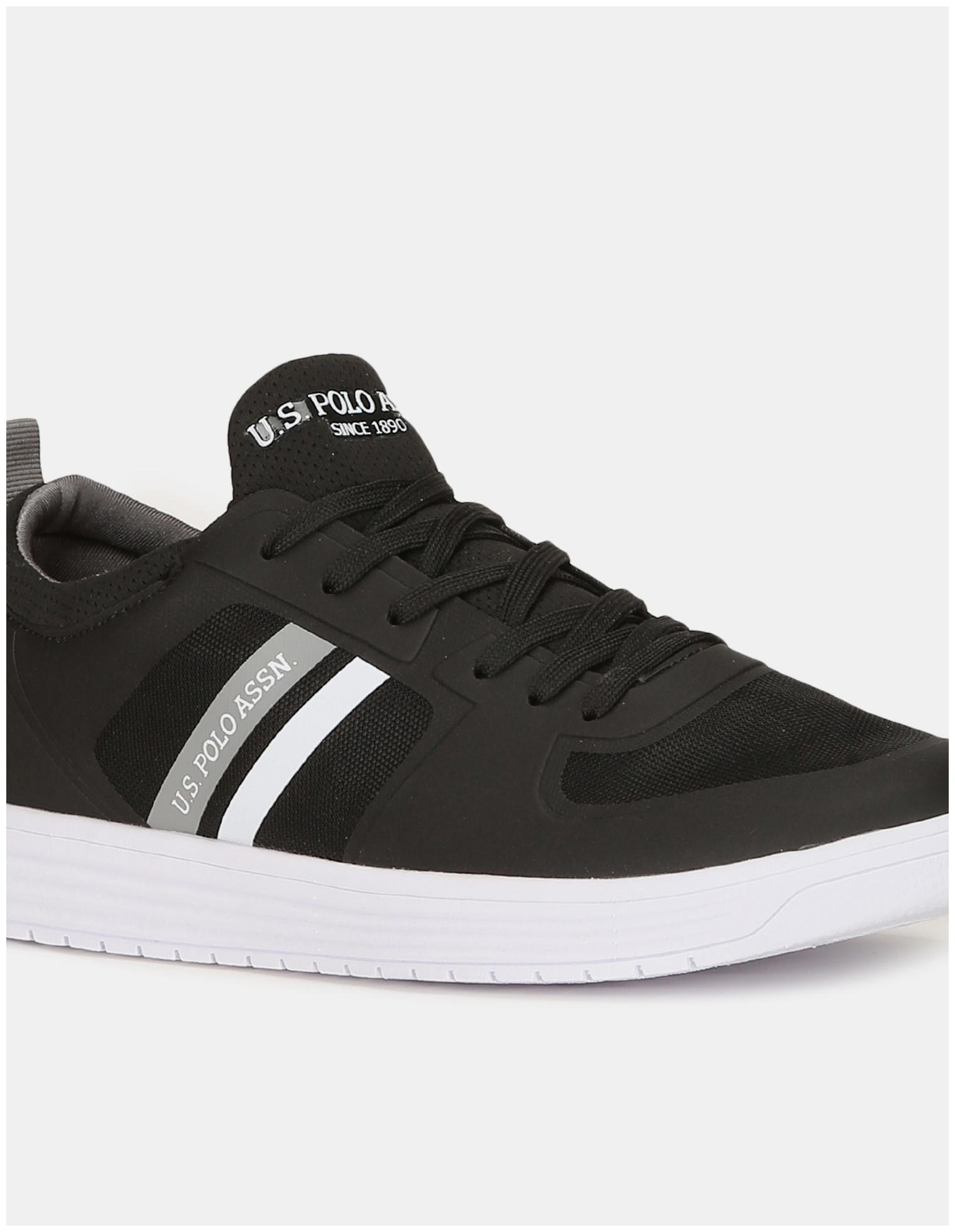 miniature 4 - US Polo Assn. Panneau en maille noire ronde Slip-On Sneakers Toe-nQS
