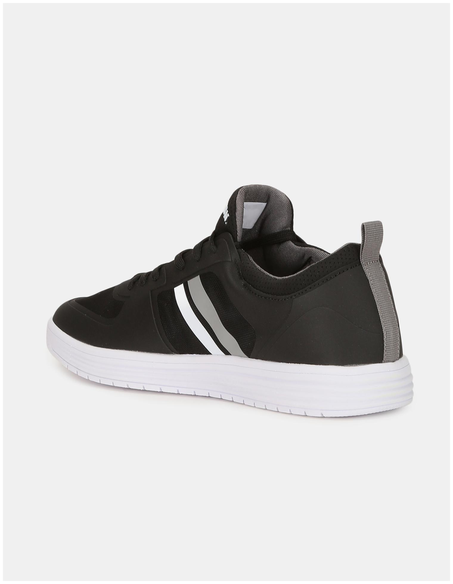 miniature 3 - US Polo Assn. Panneau en maille noire ronde Slip-On Sneakers Toe-nQS