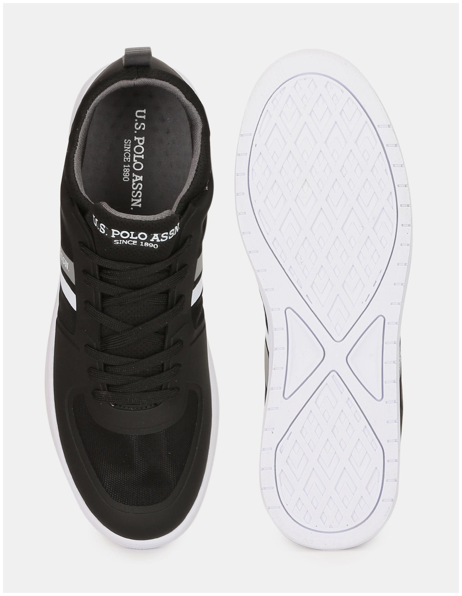 miniature 5 - US Polo Assn. Panneau en maille noire ronde Slip-On Sneakers Toe-nQS
